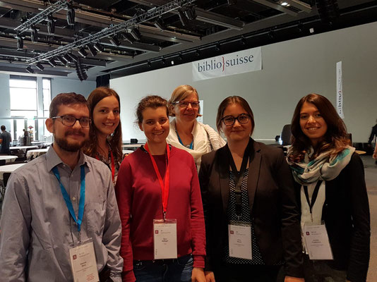 Swiss library congress at Montreux 2018 from left: Dominik Sievi, Olivia Pirolt, Nina Höfliger, Britta Biedermann, Jana Glaus, Jennifer Froidevaux