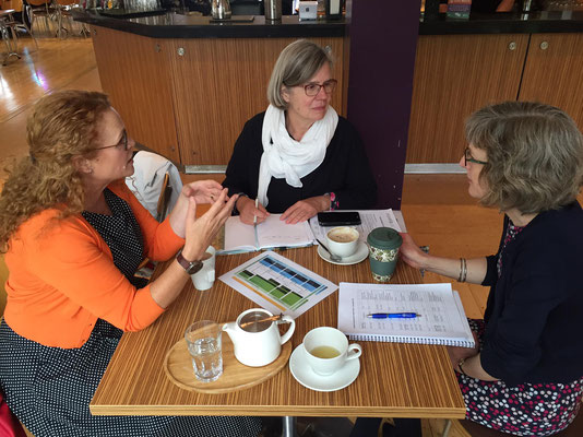 Kate Robinson (University Librarian), Britta Biedermann (Project Manager), Hannah South (Head of Library Academic Services),