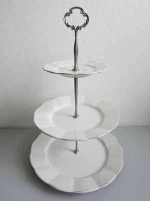 Nr. 26     sFr. 35.-   (Essteller, Dessertteller, Kaffeetassenunterteller)  Höhe 37cm (*)