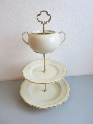 Nr. 100 sFr. 32.- (Suppenteller + Dessertteller+ Zuckerdose)  Höhe ca. 35cm