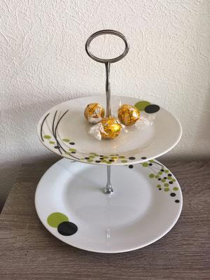 Nr. 550   sFr. 29.-     (kleiner Essteller mit Dessertteller) Höhe 20cm