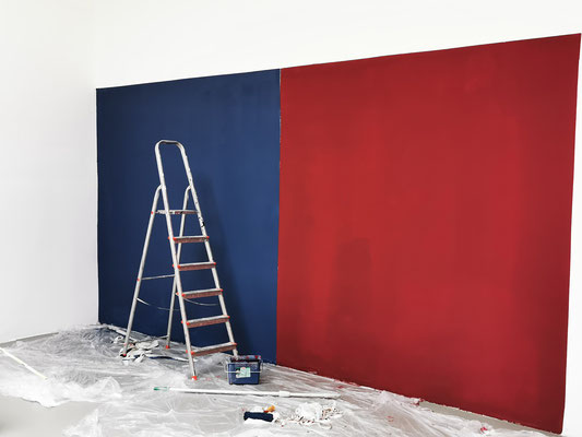 Blau-Rot Farbkombination