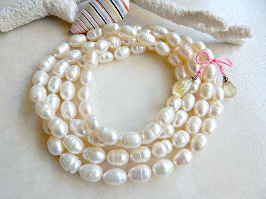 sautoir en perles de culture eau douce