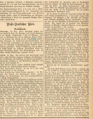 1882-08-23 Truppenübungen in Neumalsch - Karlsruher Zeitung