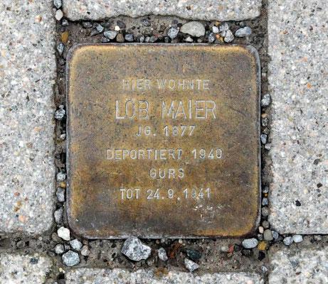 Stolperstein Löb Maier vor Adlerstraße 72