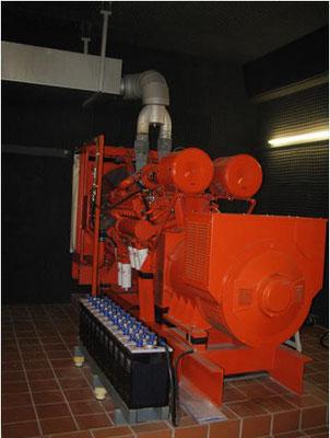 Notstromanlage: 600 KVA im Hochbehälter S 1