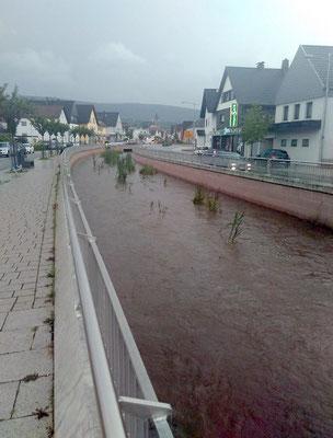 Hochwasser 2016, kein Schaden im unteren Bereich