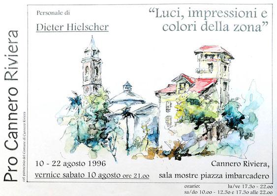 Ausstellungsplakat Cannero / Lago Maggiore, 1996
