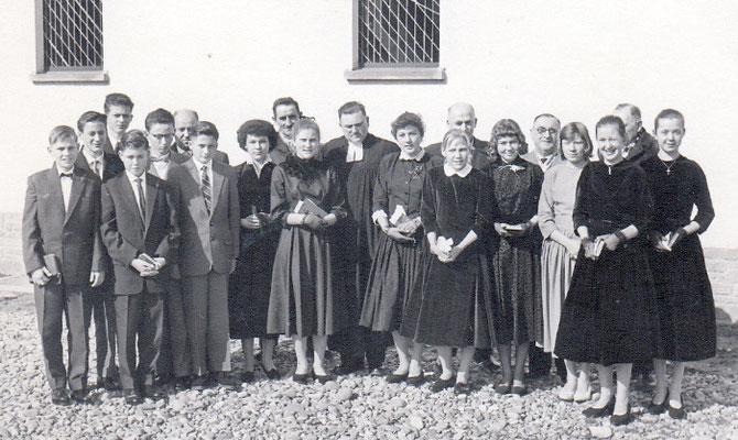 Konformation 1958 Rainer Walter, Pfarrer Dörsam (bis 1964)