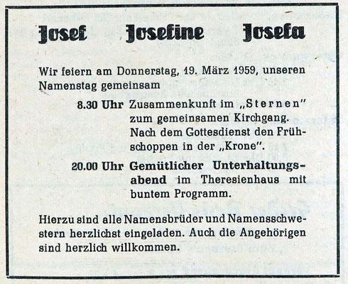 Josefstag GA 19-3-1960