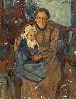 Schindler 1904 Portrait von Mutter Katharina und Tochter Klara