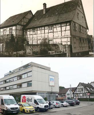 Kreuzstraße, ehemaliges Gasthaus Ochsen, heute Volksbank
