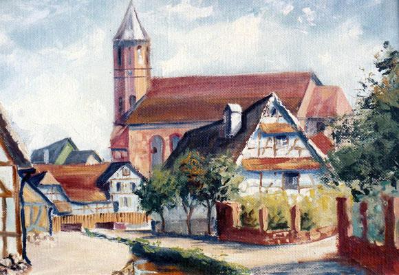 Waldprechtsstraße Bach Kirche