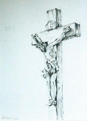 Strichzeichnung Kreuz Richard-Wagner- Ecke Dr. Eugen-Essig-Str