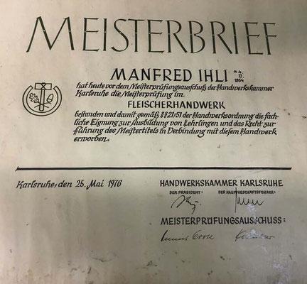 Meisterbrief 1976
