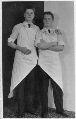 Gesellen Kurt Kühn und Albert Oberle, ca. 1951