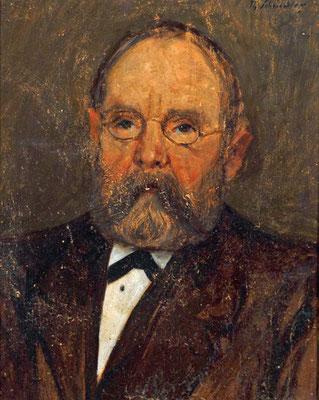 Schindler 1900. Portrait des Otto Göller, Oberlehrer zu Malsch, Schwiegervater des Künstlers