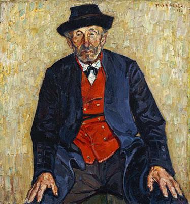 Schindler 1912 Schwarzwälder Bauer, expressiven Realismus