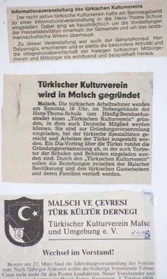 1981 Presseartikel zur Gründung