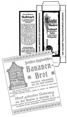 Werbung Bananenbrot Nußmark