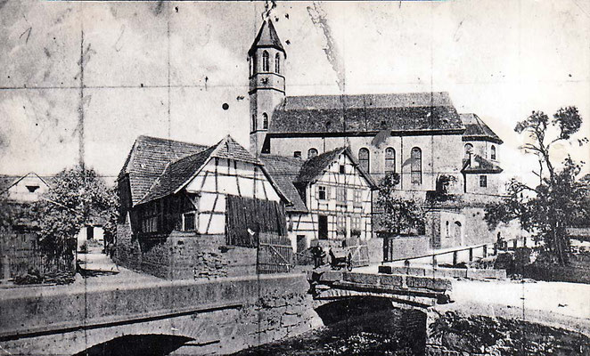 Ansichtskarte Kirche Brücke Waldprechtstr Hirth