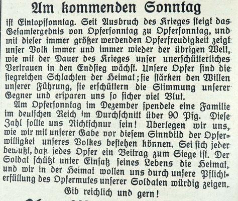 Gemeindeanzeiger 2.12.1933