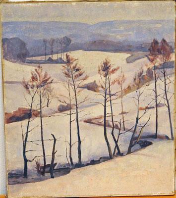 Winterlandschaft Malsch - Waldprechtsweier - 1947
