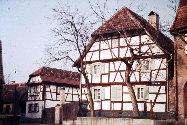 Römerstraße 17 und 19 Fachwerkhäuser Nr 19 Denkmalgeschützt