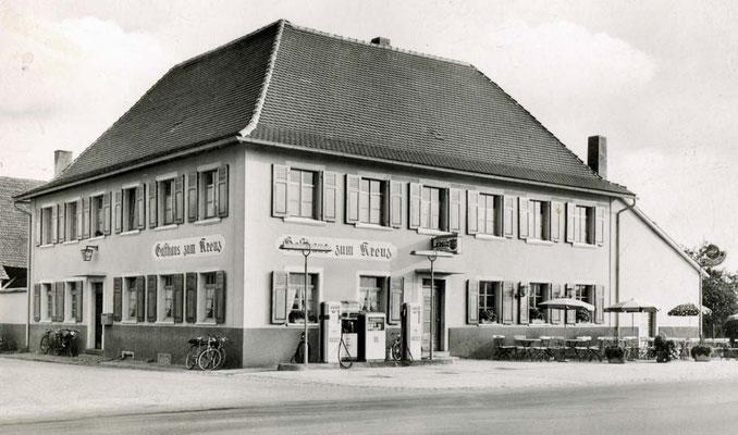 Gasthaus Kreuz Tankstelle Außenbewirtschaftung