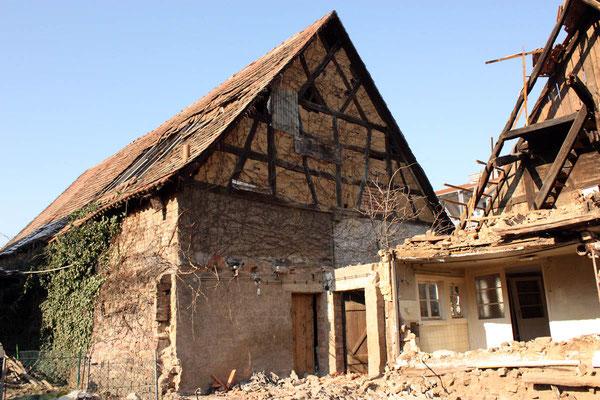 Adlerstraße 68, Haupthaus Abriss 2012