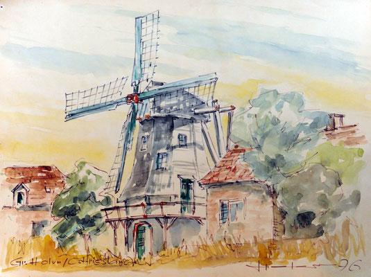 Ostfriesland, Aquarell 1976