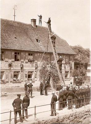 Stiftungsfest 1931 Übung an der Eintraccht