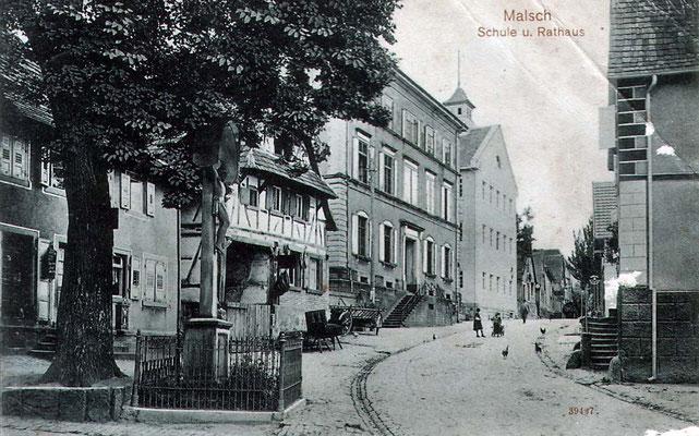 Ansichtskarte Malsch Hauptstraße