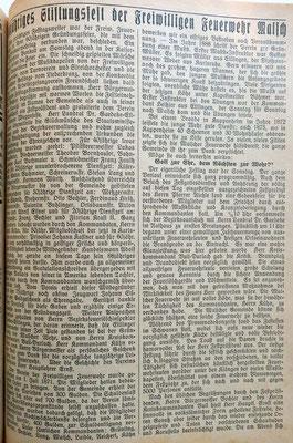 1.7.1931 Stiftungsfest Bericht
