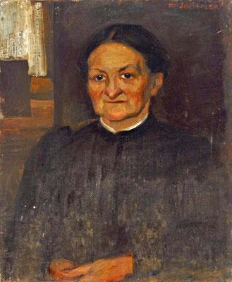 Schindler um 1900. Portrait der Katharina Schindler, Mutter des Künstlers
