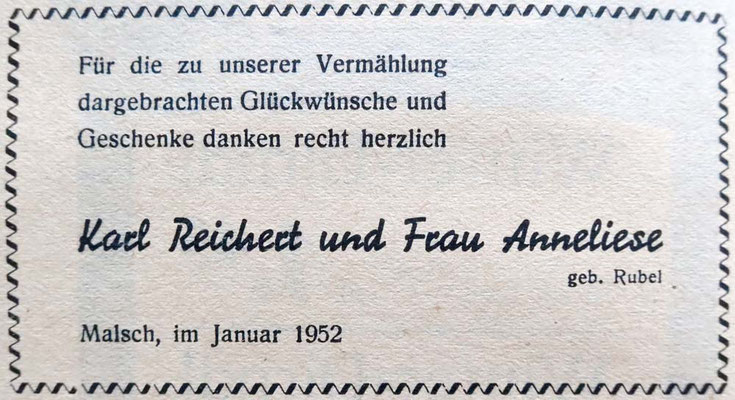Hochzeitsanzeige Anneliese-Rubel-GA-Jan-1952