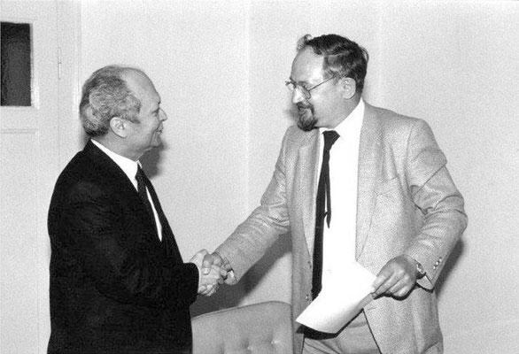 Wann? ....... Klaus Tosche mit Türkischem General Konsulat Dalyanoglu