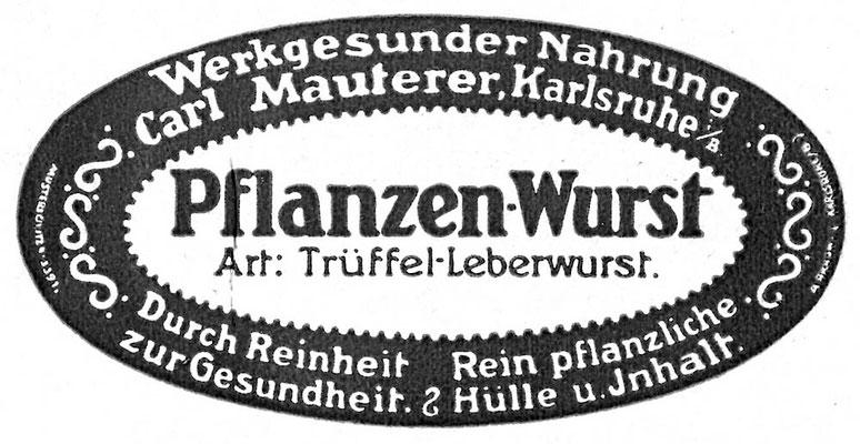 Werbung Pflanzen Wurst