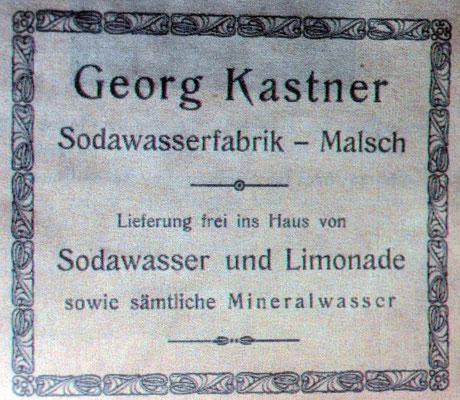 1926 Sodawasserfabrik, Limonade und Mineralswasser