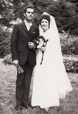10.9.1970 in Sézanne Helmut Hitscherich & Marie-Claude Charon erste Malsch-Sézanne Hochzeit
