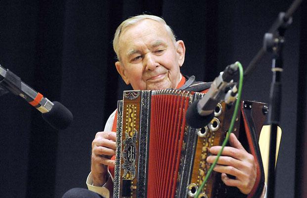 Otto Kiefer, 2013, im Alter von 87 Jahren, Enzian-Duo