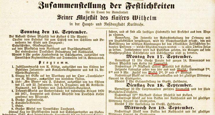 Kaiser Wilhelm in Neumalsch Festlichkeiten-Auszug 17-09-1877