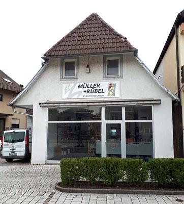 Neuwiesenstraße 36 - Elektrogeschäft Müller + Rübel