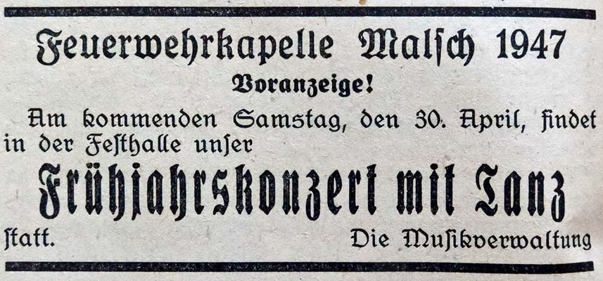 30.4.1948 Frühjahrskonzert Festhalle