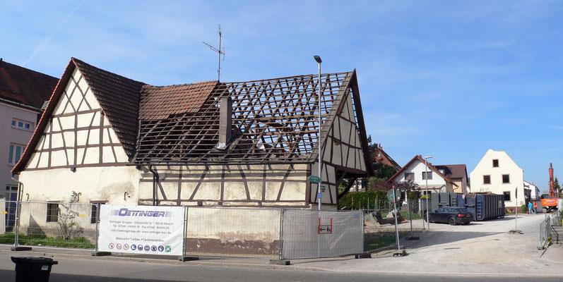 Adlerstraße 68, Scheuer Abriss 18.4.2018