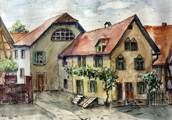 Synagoge und Jakob Voll 1982