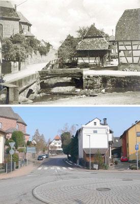 Zusammenfluss Kaufmannsbrunnenbach Waldprechtsbach, heute Kreisel