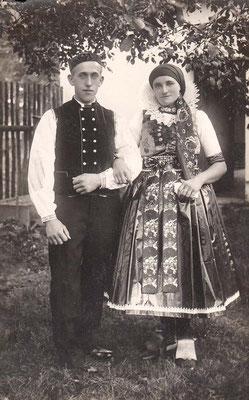 6. September 1937 Kriwy Christine geb. Richter & Anton in Rosternitz (Tschecheslowakai) (Wischau) Vertriebene