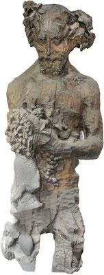 Gott Bacchus, aus Holz