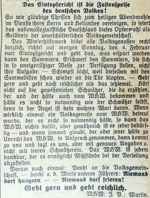 Gemeindeanzeiger 8.1.1941